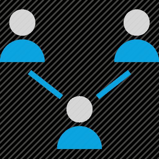 internet, three, users icon
