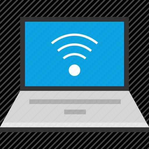 laptop, seo, signal, wifi icon