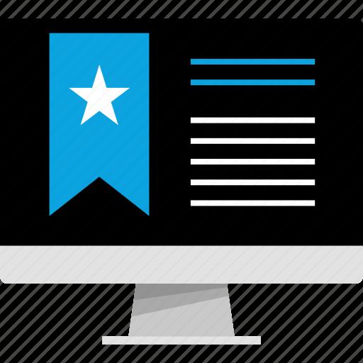 bookmark, internet, mac, online, pc, web icon