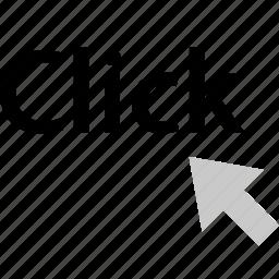 arrow, click, internet, online, web icon