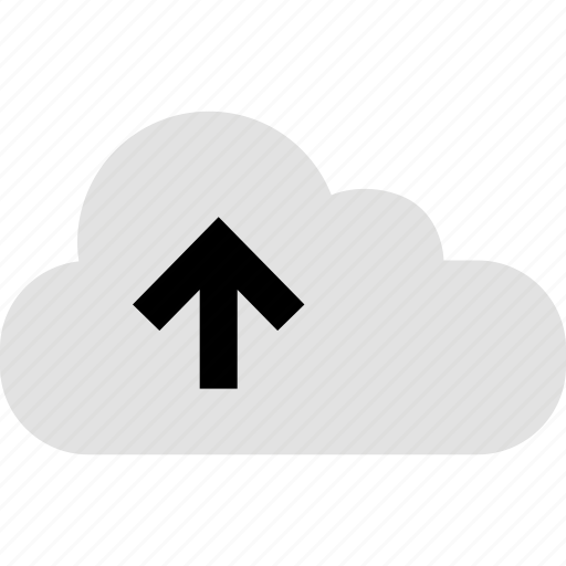 arrow, cloud, internet, online, up, web icon