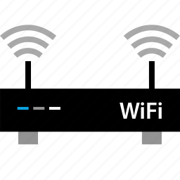double, internet, online, router, web, wifi icon