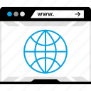globe, internet, online, web, world icon