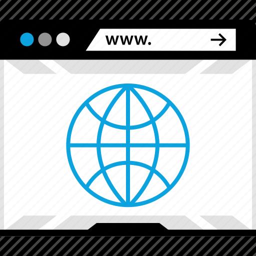 globe, internet, online, web, world icon