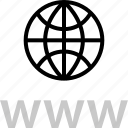 globe, internet, online, web, www icon