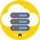 cloud computing, cloud hosting, cloud network, cloud server, storage cloud icon