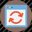 refresh web, reload web, sync, web page, website