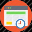timeframe, timer, web content, web grid, wireframe