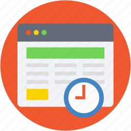 timeframe, timer, web content, web grid, wireframe icon