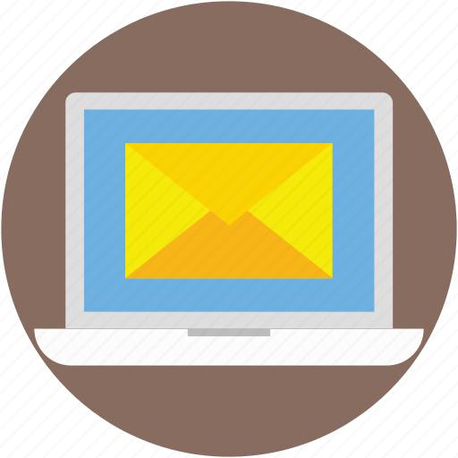 email, laptop, letter, mail, message icon