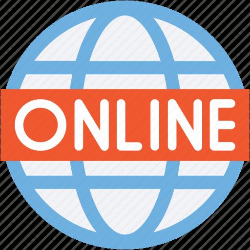 earth grid, globe, internet, online, planet icon