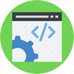 div, html, interface, programming, web development icon