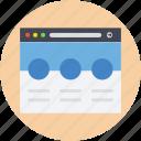 web layout, webpage, website layout, website view, wireframe