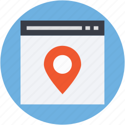 location finder, map pin, online map, online navigation, website icon