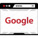 browser, google, search icon