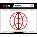 web, wide, world, www icon