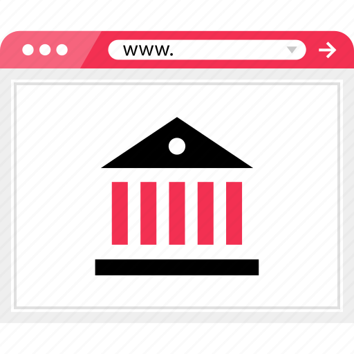 bank, banking, browser, internet, online, web icon