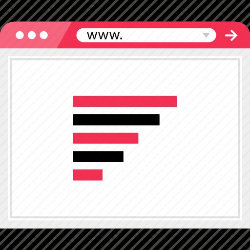 bars, code, data, graph, line, report, web icon