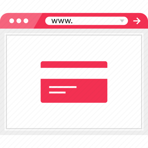 browser, card, credit, online, pay, payment, web icon