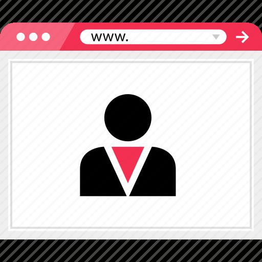 boss, browser, employee, friend, profile, staff, user icon