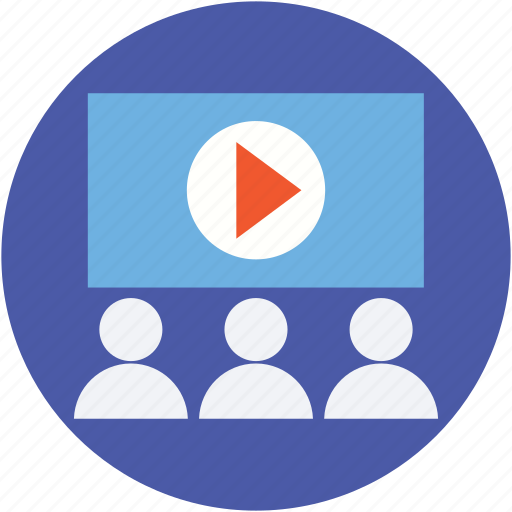 cinema, online lecture, projector lecture, theater, video lecture icon