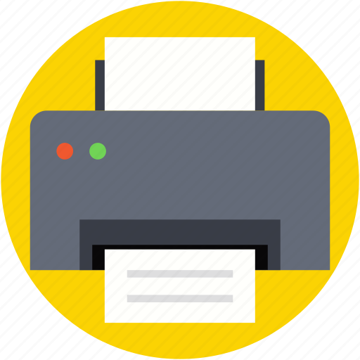 fax, inkjet printers, laser printers, printer, printing machine icon