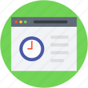 webpage, web content, wireframe, web grid, web layout icon