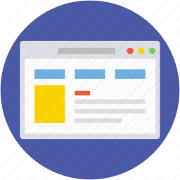 web layout, webpage, website layout, website view, wireframe icon