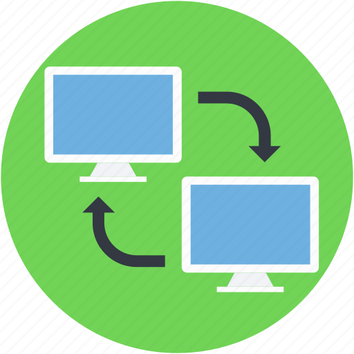 connect screen, data transfer, lcd, monitor, screen share icon