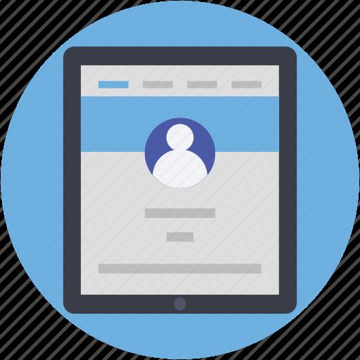 profile, profile popup, user details, user login, web profile icon