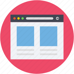 web content, web grid, web layout, webpage, wireframe icon