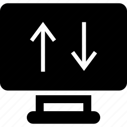 arrow, down, internet, online, up, web icon