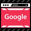google, internet, online, web icon