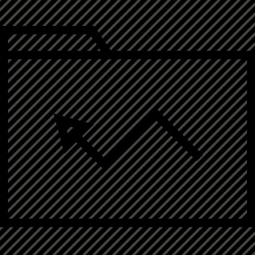 arrow, back, file icon