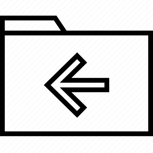 arrow, back, file icon