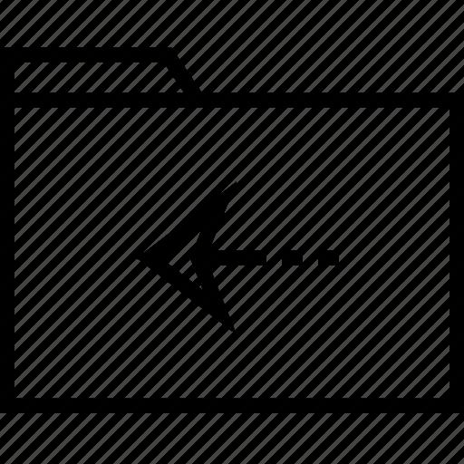 arrow, back, point icon