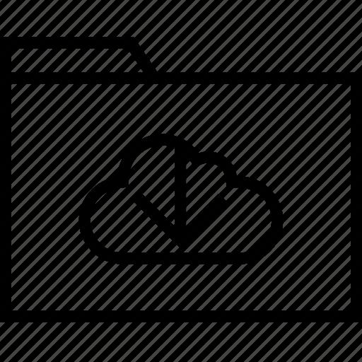 arrow, cloud, down icon