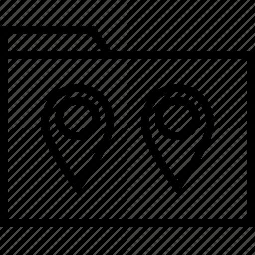direction, file, folder icon