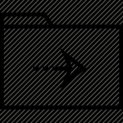archive, arrow, go, next icon