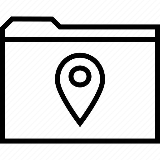 archive, folder, gps icon
