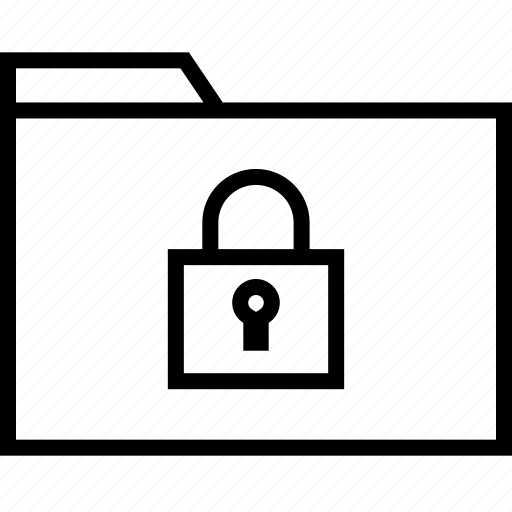 archive, lock, secured icon