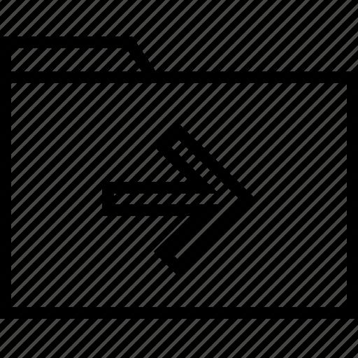 arrow, file, go, point icon