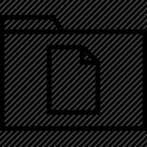 file, page, single icon
