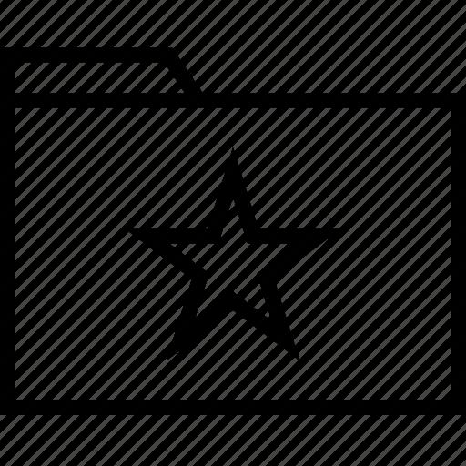 archive, file, folder, star icon