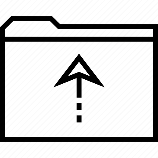 arrow, file, folder, up icon