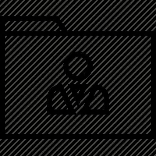 boss, file, folder, user icon