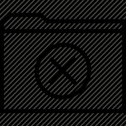 cross, file, folder, x icon