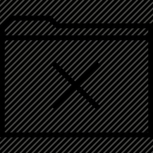 delete, file, folder, x icon