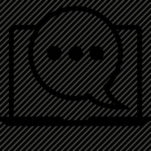 browsing, chatting, internet, pc icon