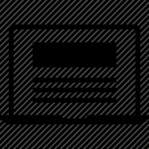 browsing, internet, laptop icon